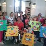 Participants in the art workshop in Ordu, Turkey.
