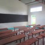 Interior of the Kindiri School house in Chad (GLOCAP Builds a Schoolhouse in Kindiri, Chad)