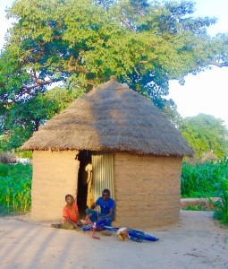 A typical hut in the Kindiri village