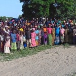 Celebration and excitement from villagers for the first school building in Kindiri