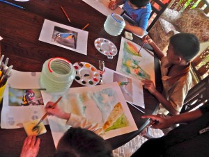 Watercolor class on the flora and fauna of northern Thailand