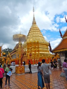 The temple at Doi Suthep.