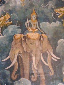 Some of the beautiful murals at Doi Suthep