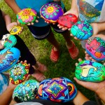 Painted River Stones by the students