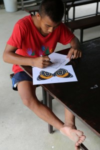One of our students at the art workshop