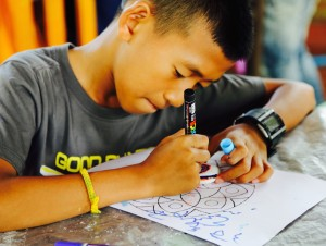 One of our students working on his mandala