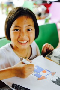 Pee Mai, one of our enthusiastic participants in our art workshop