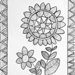 """Madhubani Flowers"" by Ashwini, 10 yrs."